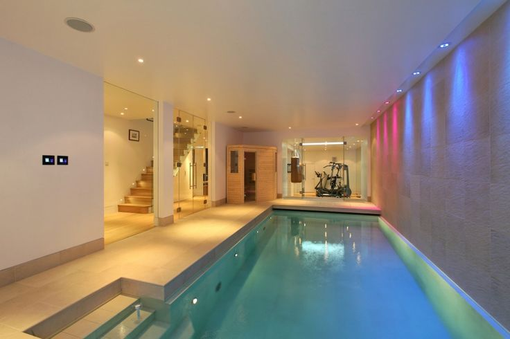 basement pool with glass walls indoor Glass Stairs Bring in more light Atrium Mezzanine