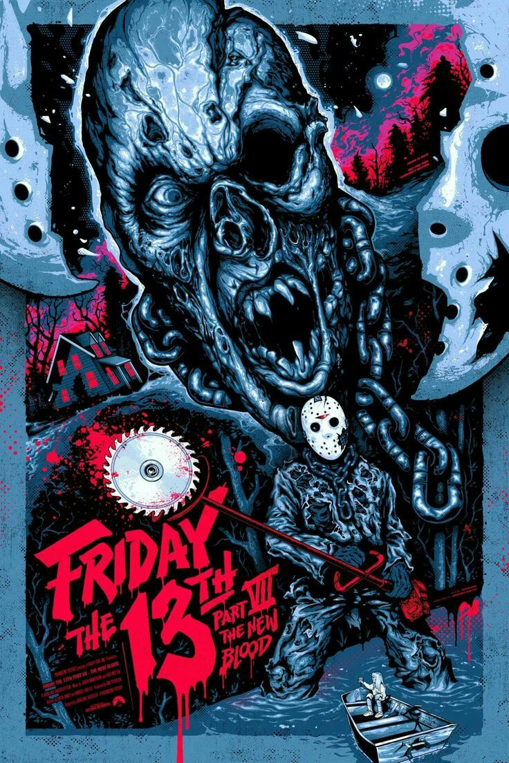 Friday the 13th part 7 horror movie poster Slasher