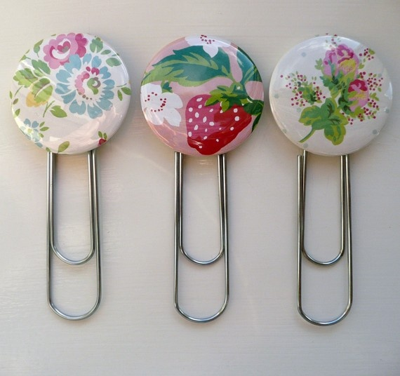 paperclip bookmarks, Etsy