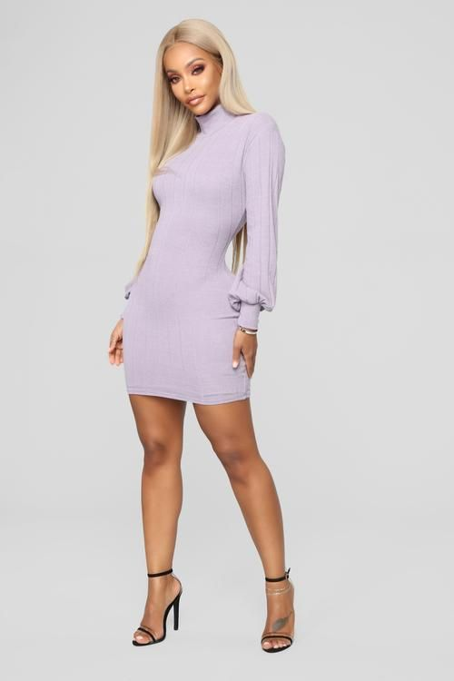 0d5afccc0a1 Having It Your Way Sweater Dress - Lavender