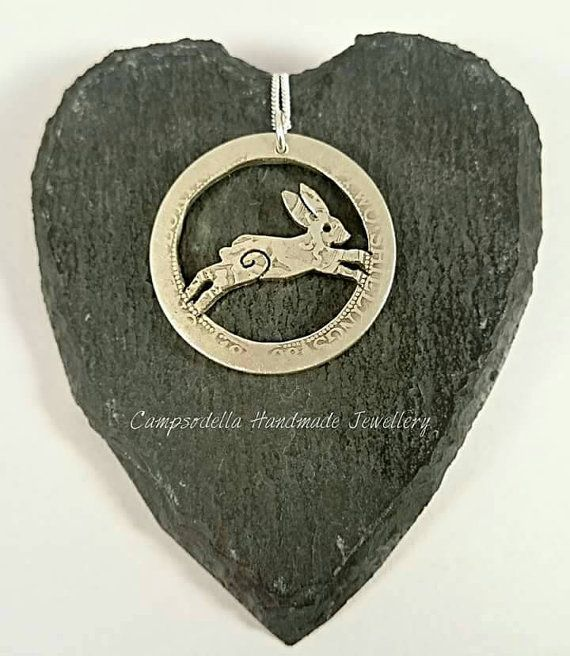 Hey, I found this really awesome Etsy listing at https://www.etsy.com/listing/263476145/silver-hare-pendant-necklace-made-from-a