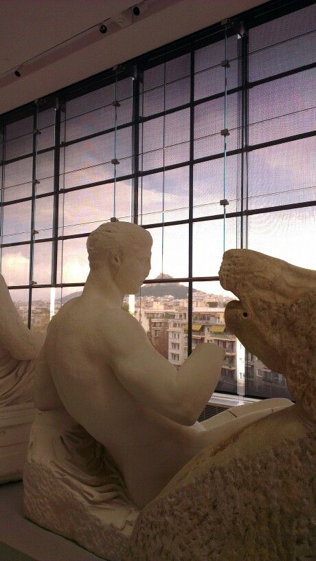At the #Acropolis museum, #Lycabettus mount in the background.