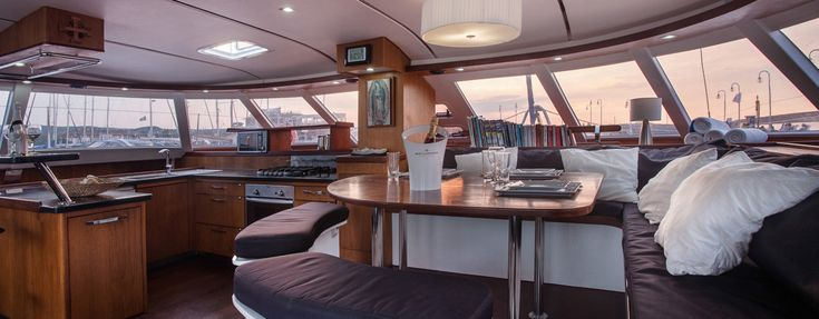 Wave Catamarans STA MARIA sailing catamaran luxurious interior