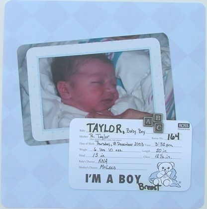 Scrapbook Ideas Baby Hospital 155 Best Baby Book Images On