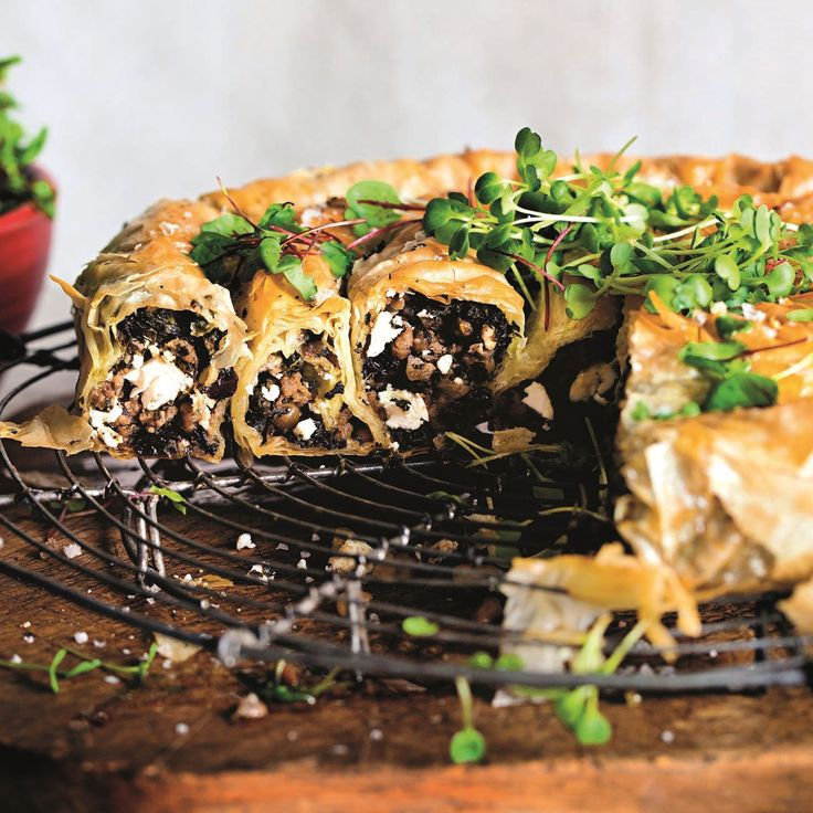 Baked Lamb And Filo Pie