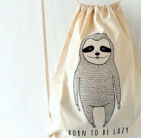Hey, diesen tollen Etsy-Artikel fand ich bei https://www.etsy.com/de/listing/205141348/faultier-cotton-tote-rucksack-drawstring