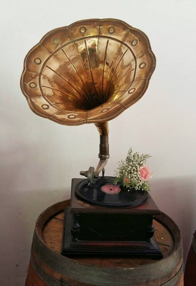 Rustic, vintage wedding. Roses, Baby's breath. Gramophone. Event planner | Wedding planner | Florist | Floral designer | Cape Town