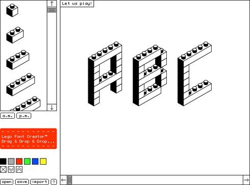 Lego Font Creator