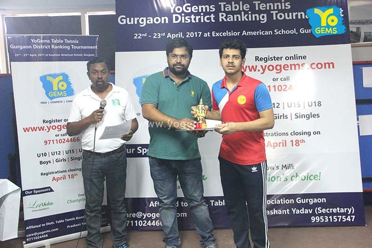 #YoGems congratulates Ritvik Chawla of The Heritage School, Gurgaon for being Winner in U18 #YoGems #Table Tennis Gurgaon #District Ranking Tournament
