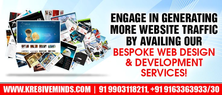 Engage in generating more website traffic by availing our bespoke web design & development services!