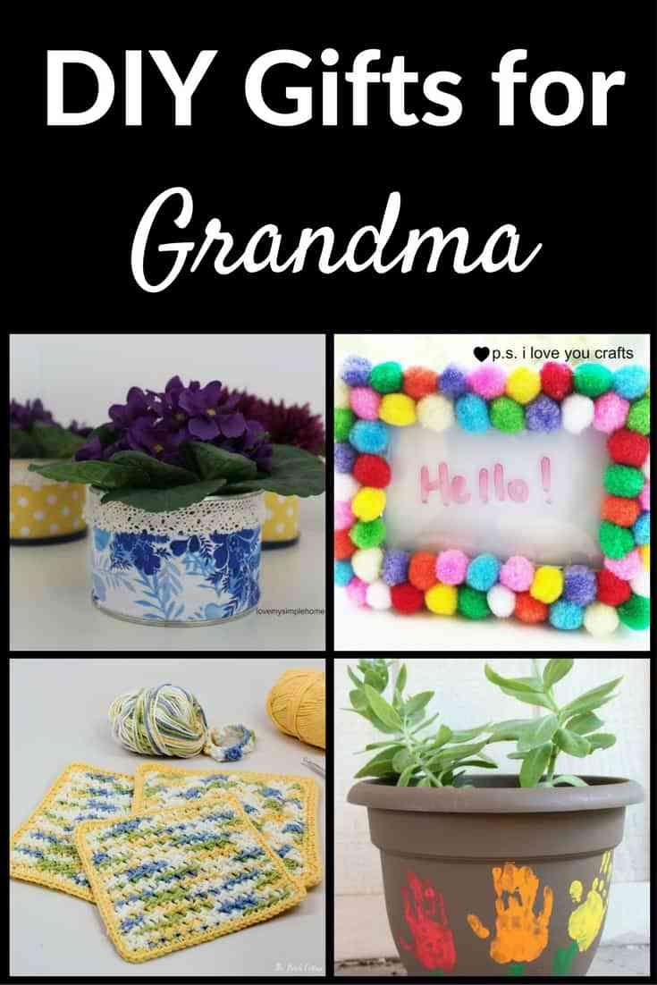 Here Is A Collection Of Gifts To Make For Grandma There Are Some For Kids And Som Homemade Birthday Gifts Homemade Gift For Grandma Handmade Gifts For Grandma