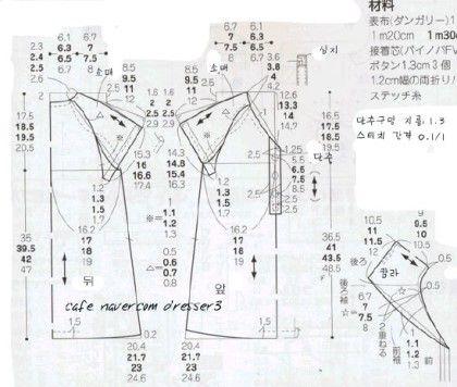 데님소재의 여아 원피스(90~120cm)