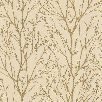 I Love Wallpaper Shimmer Wallpaper Metallic Gold / Cream