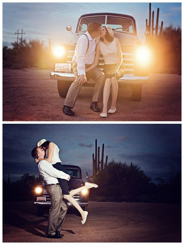 LOVE the top pic...would be cute with your jeep in the dress!