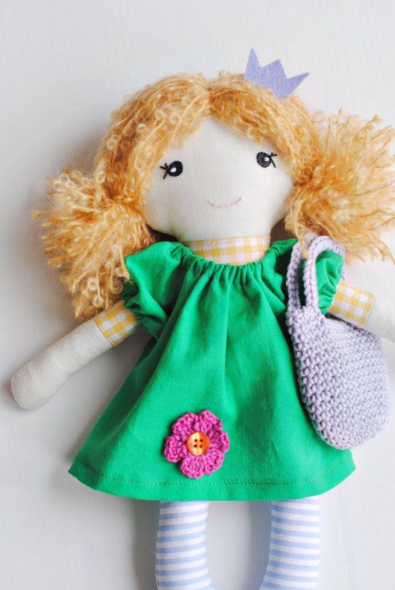 Rag doll cloth doll Mira soft doll doll for girls by pompondolls