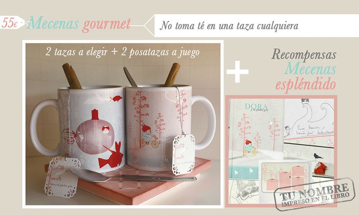 Recompensas para los mecenas gourmet de Dora. http://vkm.is/Dora