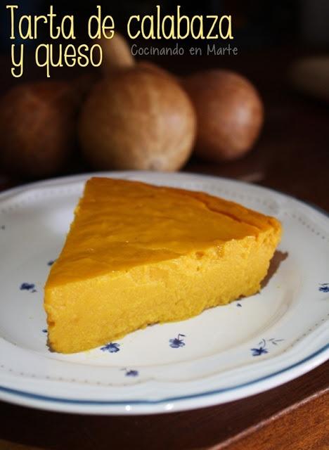 #Tarta de #calabaza y #queso