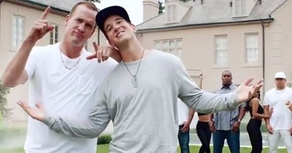 They're known for their football skills, but brothers Peyton and Eli Manning are showing off their rapping talents in a brand-new music video. And OK, the rap is actually inspired by DIRECTV's new Fantasy Zone channel, but either way, you need to watch