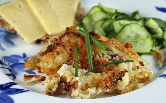 Janssons temptation (potato and fish gratin)