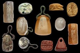 More than 600 stamp and cylinder seals were discovered by archaeologists from the University of Münster at the temple of Jupiter Dolichenus on the Turkish mountain Dülük Baba Tepesi. Many of the seals, made between the seventh and fourth centuries B.C., are carved with scenes of worship and ritual, geometric designs, animals, and people.