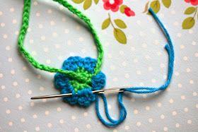 patroon bloemenslinger, haken, crochet