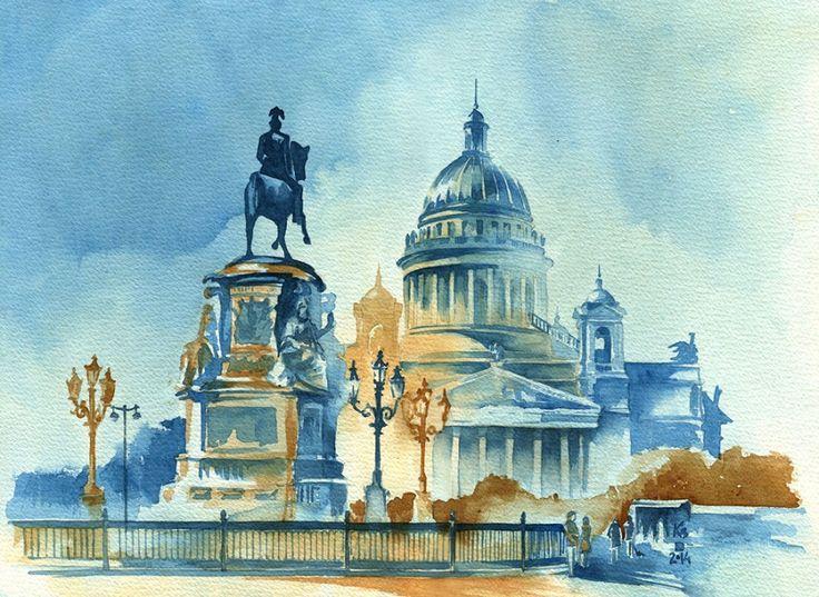 Fabulous works by watercolor illustrator Ksenia Selianko (Kyiv, Ukraine)