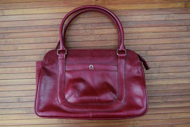Vintage Etienne Aigner Maroon Burgundy Red Leather Handbag Purse Shoulder Strap | eBay