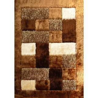rug factory shaggy viscose 30 indoor area rug multiple shag materials are combined to create a modern geometric patchwork in the design of the rug factory