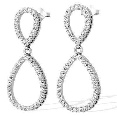 Diamantohrringe aus 585er Gold mit 1.50 Karat Diamanten