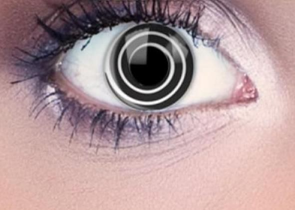 Black Spiral Halloween Eyes Contact Lenses