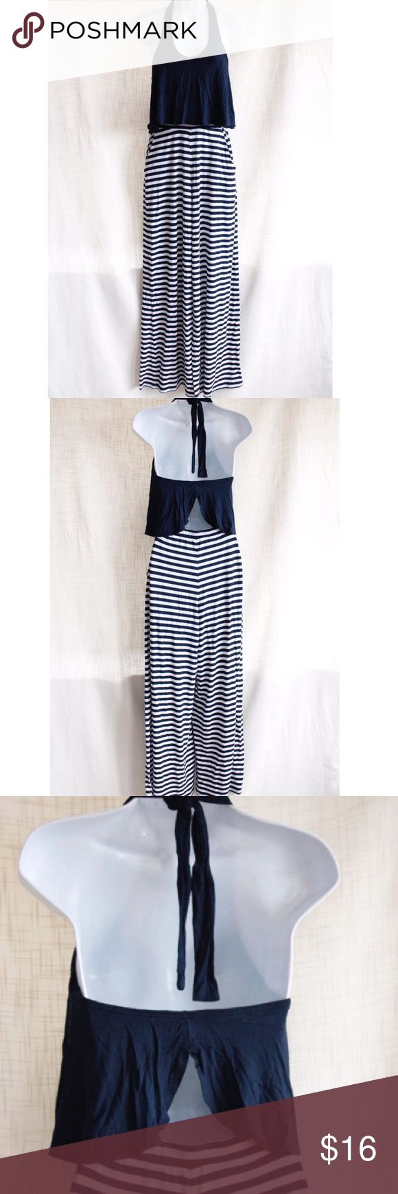 Blue and White Striped Jumpsuit Gently Worn Pants Jumpsuits & Rompers
