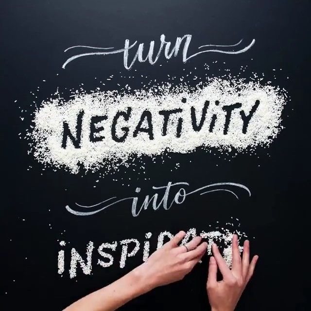 Never let negativity get the best of you! Created by @beccaclason #Designspiration #typevideo #typography #typographyinspiration
