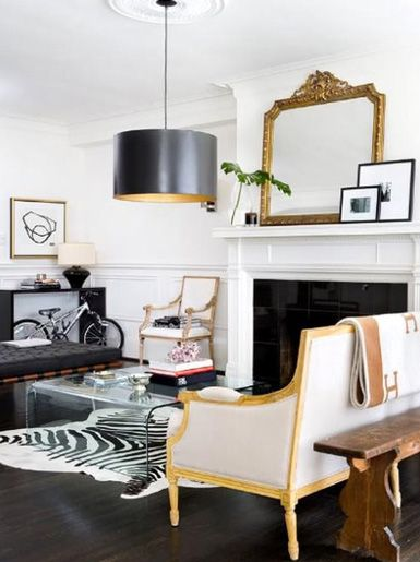 LOVE this mix of mid-century modern and vintage  -- sophisticated with subtle glamour