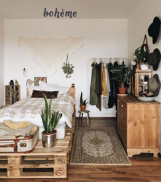 Bett auf Paletten: 26 Ideen für ein Zimmer #ideen…