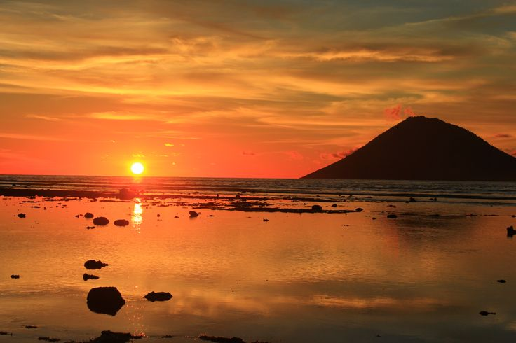 beautiful sunset scenery from Grand Luley Resort - Manado