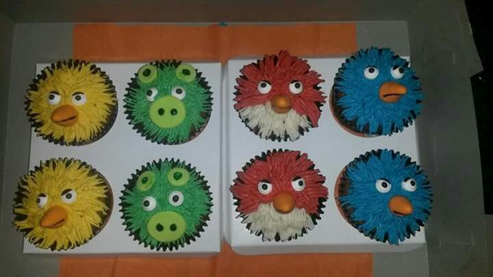 Angry Birds Cupcakes, Cakes by Lizzie, Cape Town, South Africa