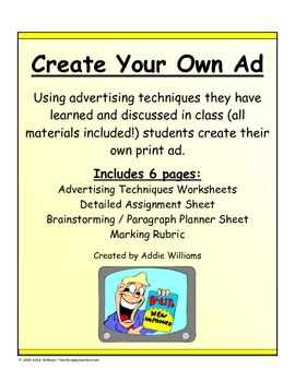 design your own advertisement