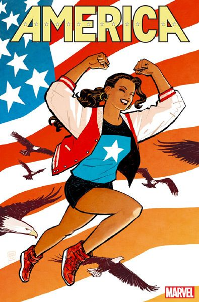 BEST COMICS: 2017!___ ⬤ AMERICA, by Gabby Rivera, Joe Quinones, and Ramon Villalobos; (cover art by Cliff Chiang).___ ➜ Click the pic to discover many more!