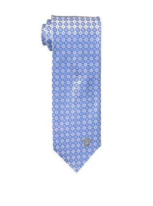 Versace Men's Diamond Grid Tie, Blue