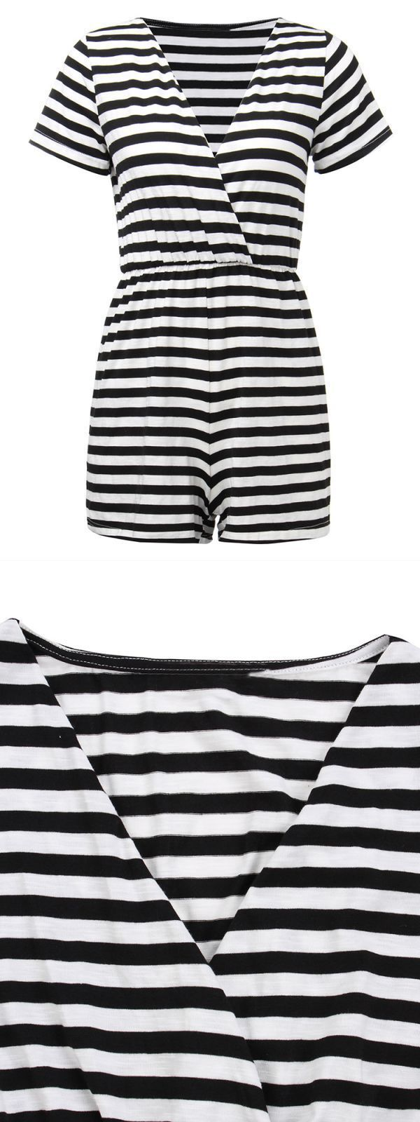 Jumpsuits playsuits river island casual women v neck stripe short sleeve romper wrap jumpsuit #cheap #jumpsuits #and #playsuits #uk #jumpsuits #and #playsuits #new #look #jumpsuits #or #playsuits