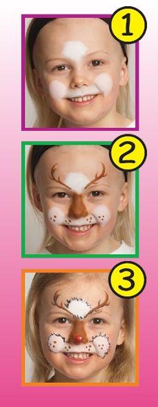 Maquillaje RENO Xmas reindeer