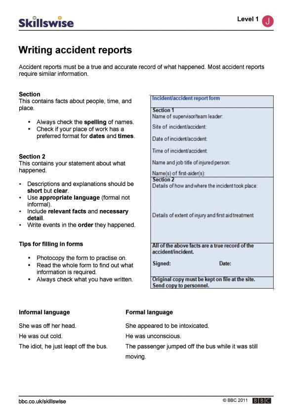 How To Write A Language Report - Specialist's opinion