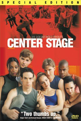 Center Stage.  A group of 12 teenagers from various backgrounds enroll at the American Ballet Academy in New York to make it as ballet dancers and each one deals with the problems and stress of training and getting ahead in the world of dance. Cheesiest movie ever, but one of my favorites!
