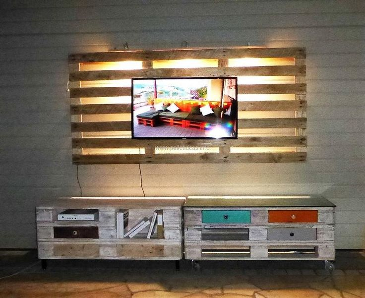 pallets made tv stand idea