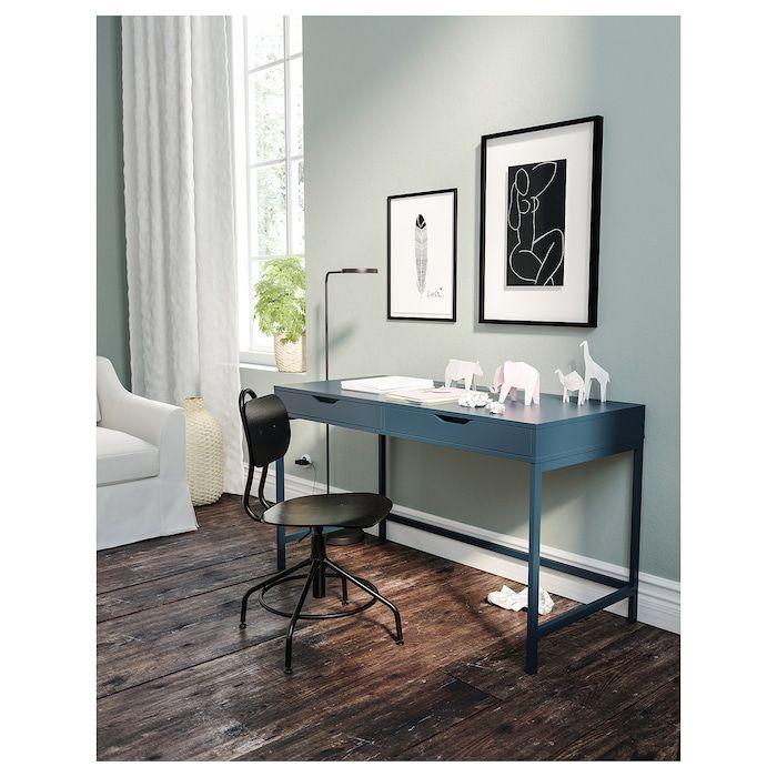 Alex Blue Desk 131x60 Cm Ikea I 2020 Ikea Skrivbord Smart Design