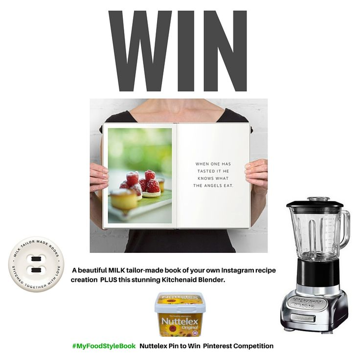 OK all you fab food bloggers and self taught food stylists have you ever dreamed of your very own  book filled with all your gorgeous stunningly styled instagram posts ? Pin all your favourite recipes you have created together on one board (called #MyFoodStyleBook) and you can win just that - along with a super luxe Kitchenaid blender. See our Nuttelex website to enter. Competition closes 12th April 2016