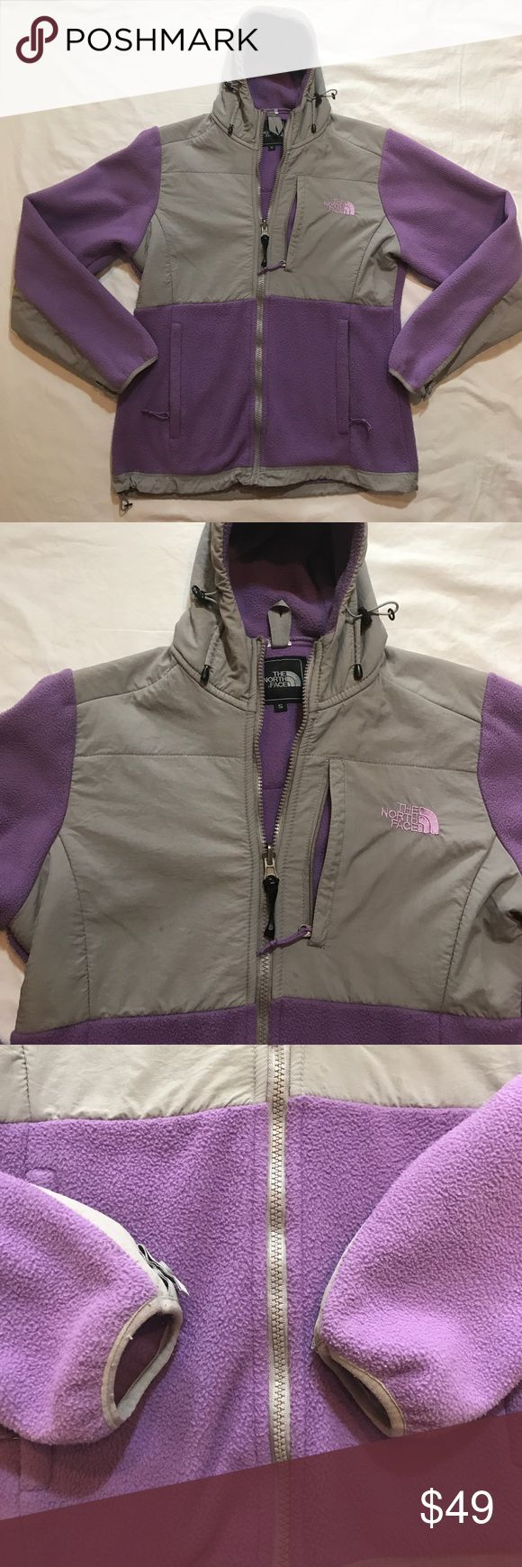 North Face Lavender Purple Hooded Zip up Jacket Beautiful pastel Lavender purple jacket by the North Face. Some wear, preowned. Size women's small. Make me an offer or Bundle discount available. North Face Jackets & Coats