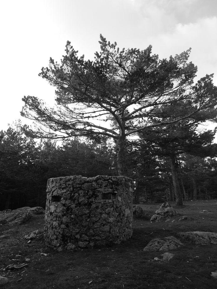 Antiguo nido de ametralladora de la Guerra Civil Española, en el Collado de la Gargantilla. 1675 metros de altura