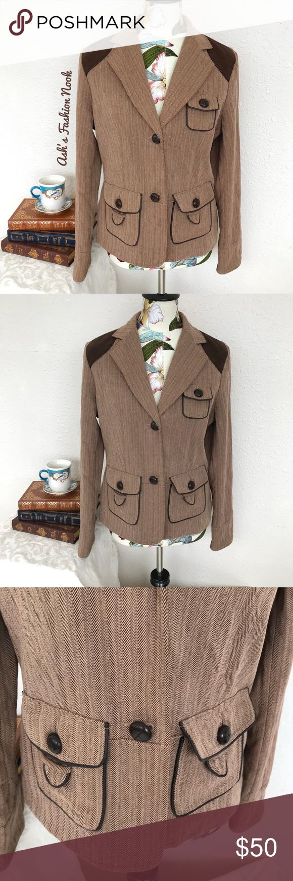 Ruff Hewn-Brown Tweed Jacket 🌸Brand: Ruff Hewn🌸 Color(s): Tan with dark brown accents Size: large Stretch: no Fabric Content: see pic Measurements: see pic Condition: EUC! Note(s): no flaws! Gorgeous jacket! You will look so very Oxford sporting this fabulous jacket. It has reinforced elbows.  📦Bundle your likes, and I will send you a no obligation offer. Or, submit a reasonable offer!📦(G) Ruff Hewn Jackets & Coats Blazers