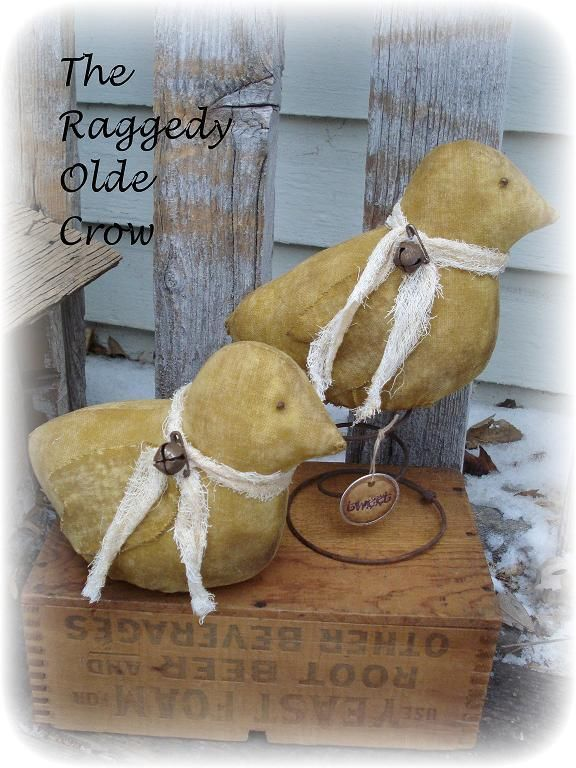 Primitive Easter Spring Chicks dolls~jillykbee~ #NaivePrimitive